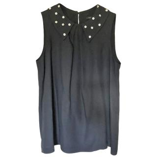 Tara Jarmon embellished-collar sleeveless top