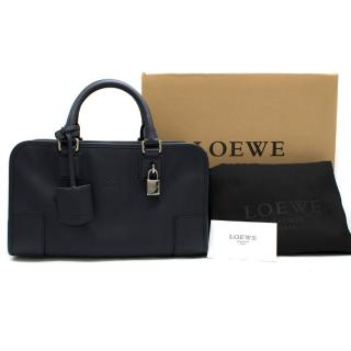 Loewe Navy Calfskin Leather Amazona 28 Handbag