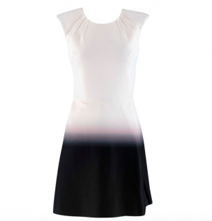 Maje Black and White Romance Neoprene Dress