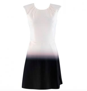 Maje Black and White Romance Neoprene Dress