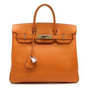 Hermes Epsom Leather Feu Birkin HAC 28 Bag