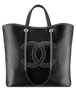 Chanel Large Coco Eyelet Shopping Tote