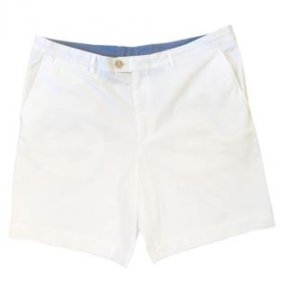 Burberry white cotton Bermuda shorts