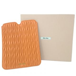 Miu Miu matelasse-leather iPad case