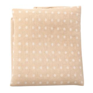 Turnbull & Asser Beige Spotted Print Pocket Square