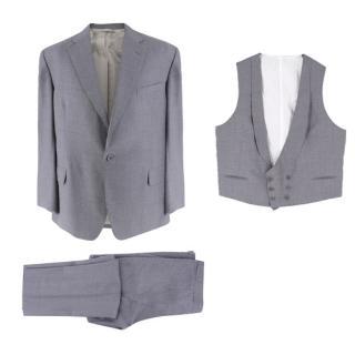 Hardy Amies Bespoke Grey 3-piece Suit