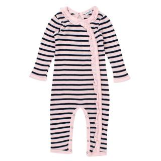 Splendid Baby 12-18M Pink Striped Baby Grow