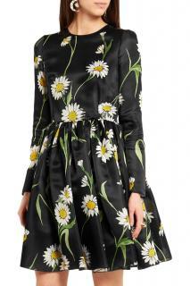 Dolce & Gabbana Silk Organza Daisy Print Dress