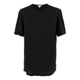 James Perse Standard Black V-neck T-shirt