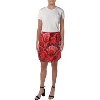 Lauren Ralph Lauren Marlana Mixed Media Paisley Print Shirtdress