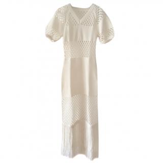 Sonia Rykiel mesh fringe maxi dress
