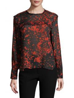Isabel Marant Printed Silk Blend Blouse