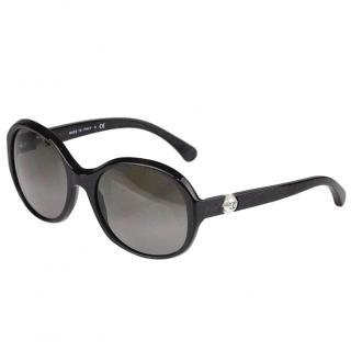 Chanel black pearl cc sunglasses