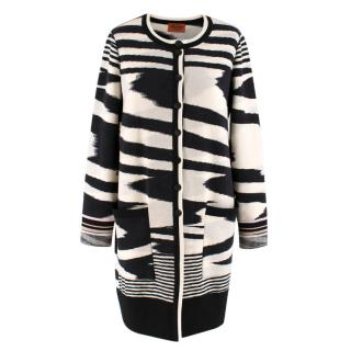 Missoni Printed Chevron Pattern Long Cardigan