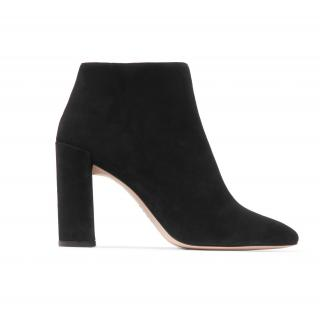Stuart Weitzman Pure Suede Ankle Boots in Black