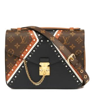 Louis Vuitton Coated Canvas Brogue Pochette Metis Shoulder Bag