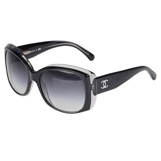 Chanel black gradient sunglasses