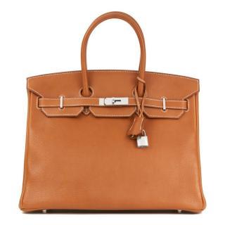 Hermes Faubourg Barenia 35cm Birkin Bag