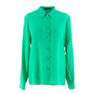 Kate Moss For Equipment 'Danica' Green Silk Blouse S