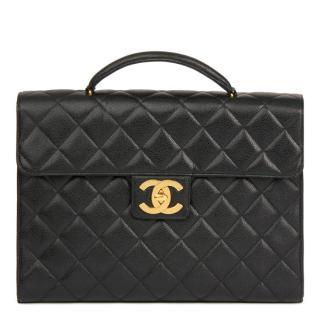 Chanel Caviar Leather Jumbo XL Briefcase