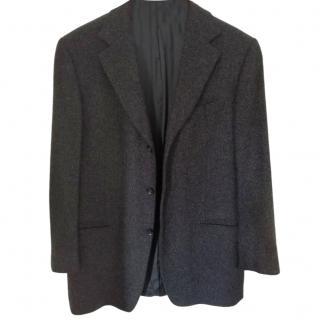 Ermenegildo Zegna grey boucle-effect blazer