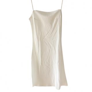 Dior white silk cami dress