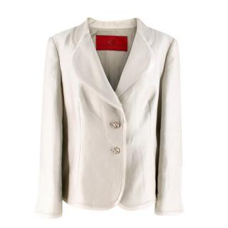 CH Carolina Herrera Linen Blend Blazer Jacket