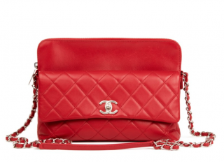 Chanel Quilted Leather Red Shoulder Bag