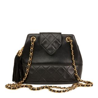 Chanel Timeless Fringe Quilted Leather Bucket Bag