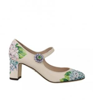 Dolce & Gabbana Hydrangea-print Mary Jane pumps