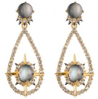 Alexis Bittar Mother Of Pearl Doublet Encrusted Earrings