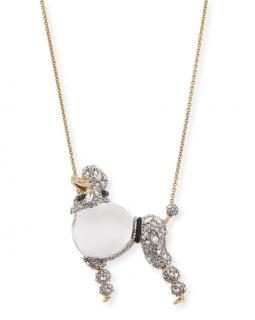 Alexis Bittar Jelly Belly Poodle crystal pendant