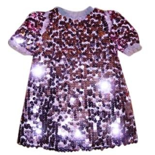 Dolce & Gabbana Pink Mini Me Sequin dress