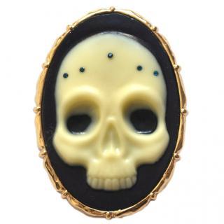 Alexis Bittar Skull Cameo Pin Brooch