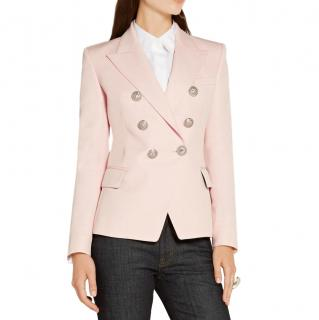 Balmain baby pink double breasted blazer