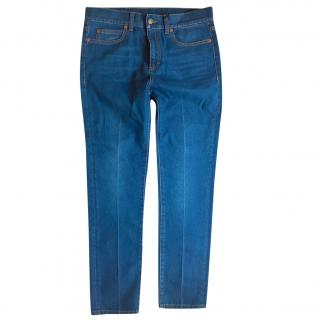 Gucci Blue Panther Patch Jeans