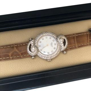 Chopard 1.68ct Diamond Casmir Watch W/ Alligator & Satin Straps