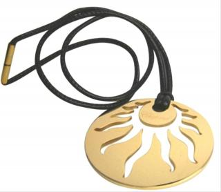 Chopard 18K yellow gold Happy Sun necklace