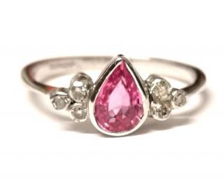 Bespoke pink sapphire and diamond ring