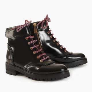 Camilla Elphick black leather Heidi boots - Current Season