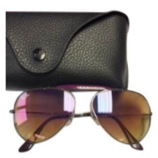 Ray Ban anti reflect aviator sunglasses