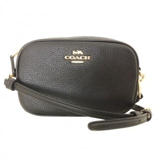 Coach black leather belt/shoulder bag