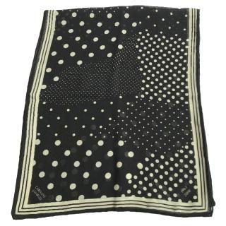 Caroline Charles long spotted silk scarf
