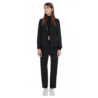 Sandro double breasted pin stripe blazer