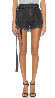 Marques'Almeida Raw Cut Cotton Denim Shorts