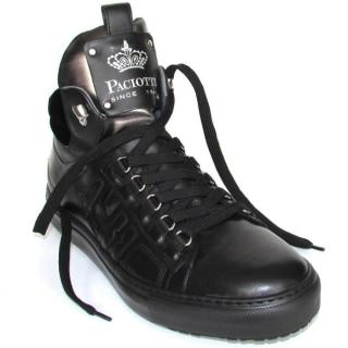 Cesare Paciotti black high-top sneakers