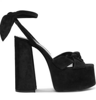 Saint Laurent paige platform suede sandals