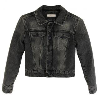 Sandro padded grey denim jacket