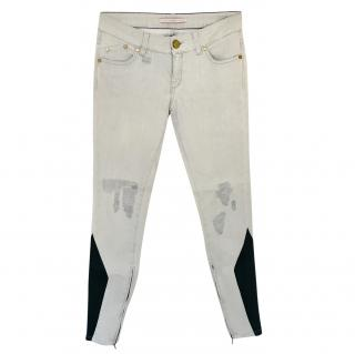 Victoria Beckham contrast-panel skinny jeans