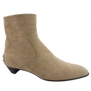 Tod's almond-toe suede ankle boots